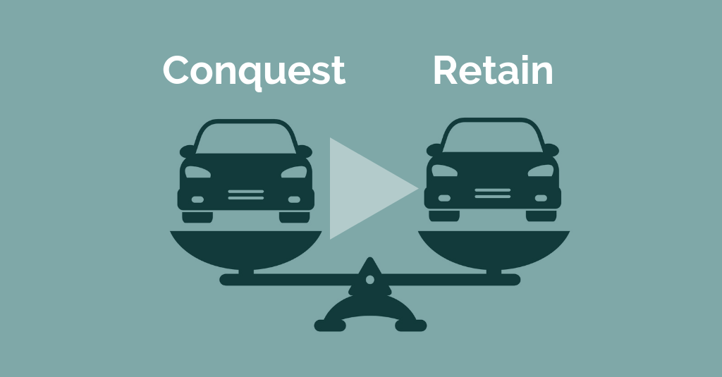 conquest vs. retention for automotive campaign